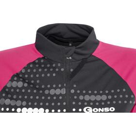 Gonso Kama Fietsshirt korte mouwen Dames roze/zwart